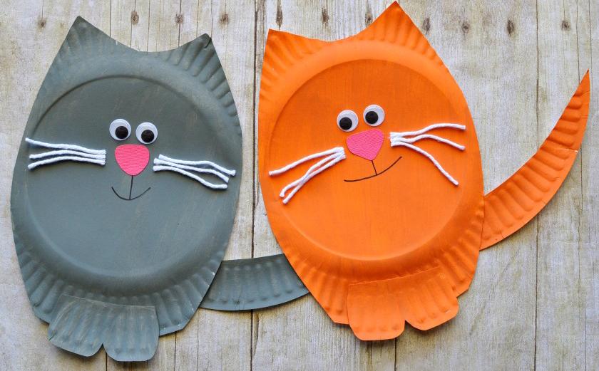 Поделки для детей 5-6 лет из бумажных тарелок 36